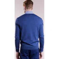 Polo Ralph Lauren SLIM FIT Sweter shale blue heather. Niebieskie swetry klasyczne męskie marki Polo Ralph Lauren, m, z materiału, polo. W wyprzedaży za 441,75 zł.