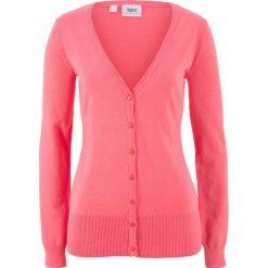 Swetry rozpinane damskie: Sweter rozpinany bonprix jasnoróżowy