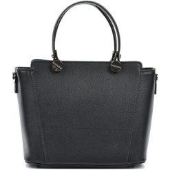 Torebki i plecaki damskie: Skórzana torebka w kolorze czarnym – (S)22,5 x (W)26 x (G)13 cm