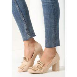 Buty ślubne damskie: Beżowe Czółenka Argyle