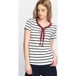 Biało-Czarny T-shirt All Over Now. Białe bluzki damskie Born2be, l. Za 39,99 zł.
