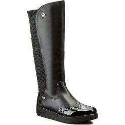 Kozaki RIEKER - Y5193-00 Schwarz. Czarne buty zimowe damskie marki Kazar, ze skóry, na wysokim obcasie, na sznurówki. W wyprzedaży za 279,00 zł.