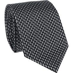 Krawat  KWWR011001. Białe krawaty męskie Giacomo Conti, z tkaniny. Za 199,00 zł.