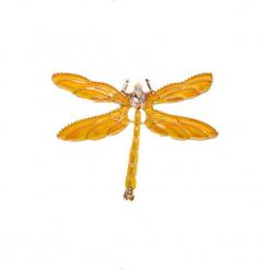 Żółta broszka ważka QUIOSQUE. Żółte broszki damskie QUIOSQUE. W wyprzedaży za 29,99 zł.