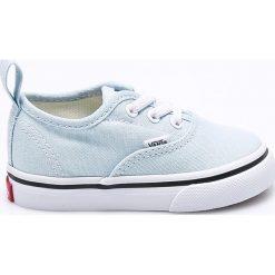 Vans - Tenisówki dziecięce. Szare buty sportowe dziewczęce marki Vans, z gumy, z okrągłym noskiem, na sznurówki. W wyprzedaży za 119,90 zł.