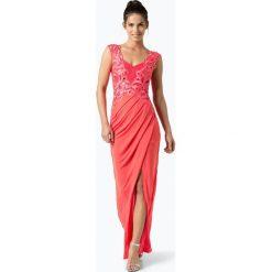 Lipsy - Damska sukienka wieczorowa, czerwony. Białe sukienki marki BIALCON, na imprezę, w koronkowe wzory, z koronki, z kopertowym dekoltem, midi, kopertowe. Za 299,95 zł.