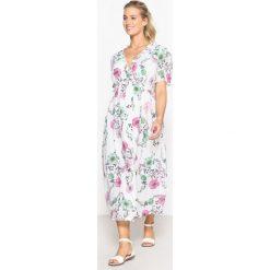 Długie sukienki: Sukienka ciążowa długa w kwiecisty wzór