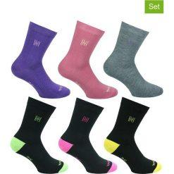 Skarpetki damskie: Podkolanówki (6 par) z kolorowym wzorem