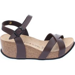 Buty damskie: Sandały w kolorze brązowym