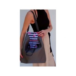 Pikowana torba flaming. Szare torebki klasyczne damskie drops, z bawełny, pikowane. Za 99,00 zł.