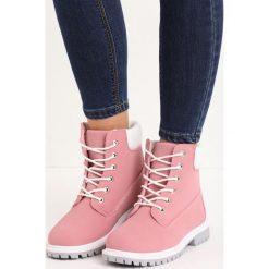 Buty zimowe damskie: Różowe Traperki Snowguard