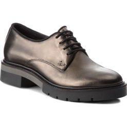 Oxfordy TOMMY HILFIGER - Metallic Leather Lac FW0FW03150 Dark Silver 015. Czarne jazzówki damskie TOMMY HILFIGER, z nubiku, na obcasie. W wyprzedaży za 479,00 zł.