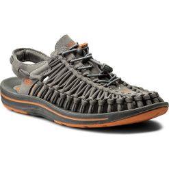 Sandały KEEN - Uneek Flat 1016901 Gargoyle/Burnt Orange. Szare sandały męskie skórzane Keen. W wyprzedaży za 339,00 zł.