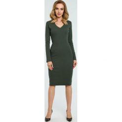 Sukienka tuba w prążki moe393. Zielone sukienki balowe Moe, do pracy, m, w prążki, z materiału. Za 139,00 zł.