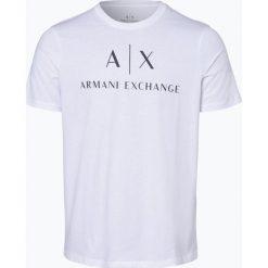 Armani Exchange - T-shirt męski, czarny. Czarne t-shirty męskie z nadrukiem Armani Exchange, l, z bawełny. Za 199,95 zł.