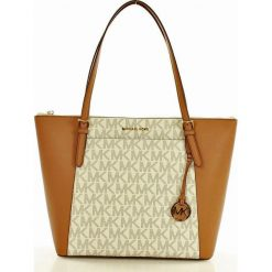 Logowana torebka shopper bag MICHAEL KORS VANILLA/ ACRN. Białe kuferki damskie Michael Kors. Za 1199,00 zł.
