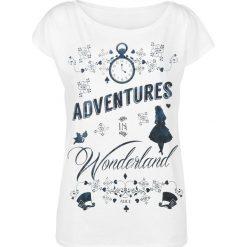 Alicja w Krainie Czarów Adventures In Wonderland Koszulka damska biały. Białe bluzki damskie Alicja w Krainie Czarów, l. Za 62,90 zł.