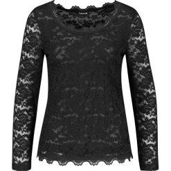 Koszulka z elastycznej koronki. Czarne bluzki koronkowe marki bonprix. Za 229,00 zł.