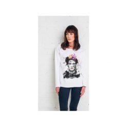 Bluzy damskie: FRIDA PAINTED bluza oversize biała