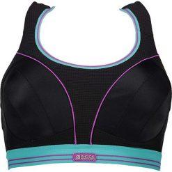Biustonosze sportowe: Sportowy biustonosz w kolorze czarno-turkusowym