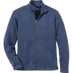 Bluza  rozpinana melanżowa z polaru Regular Fit bonprix niebieski melanż. Czarne bluzy męskie rozpinane marki Cropp, l, z polaru, z kapturem. Za 109,99 zł.