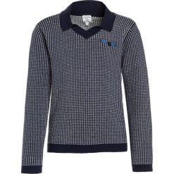 Carrement Beau POLO TRICOT Sweter marine/ecru. Niebieskie swetry chłopięce Carrement Beau, z bawełny, polo. W wyprzedaży za 142,35 zł.