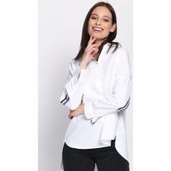 Biała Koszula Movable. Zielone koszule damskie marki Mohito, l, z wykładanym kołnierzem. Za 74,99 zł.