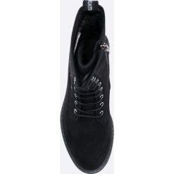 Tamaris - Botki. Szare buty zimowe damskie marki Tamaris, z materiału. W wyprzedaży za 129,90 zł.