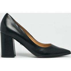 Solo Femme - Czółenka. Szare buty ślubne damskie marki Kazar, ze skóry, na wysokim obcasie, na obcasie. Za 339,90 zł.