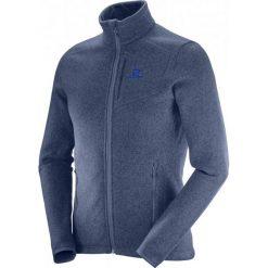 Salomon Bluza Polarowa Bise Fz M Dress Blue/Night Sky M. Niebieskie bluzy męskie rozpinane Salomon, m, z polaru. W wyprzedaży za 349,00 zł.