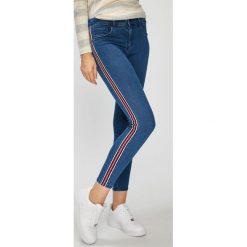 Only - Jeansy. Szare jeansy damskie rurki marki ONLY, s, z bawełny, casualowe, z okrągłym kołnierzem. W wyprzedaży za 119,90 zł.