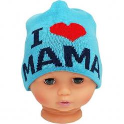 Czapka niemowlęca z napisem mama CZ 161C. Niebieskie czapeczki niemowlęce Proman, z napisami. Za 30,75 zł.