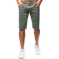 Spodenki i szorty męskie: Spodenki męskie jeansowe khaki (sx0667)