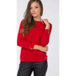 Swetry klasyczne damskie: Sweter z prążkowanym dekoltem