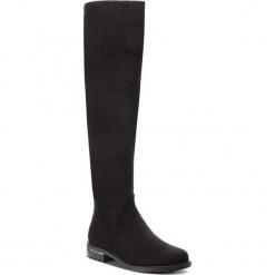 Muszkieterki JENNY FAIRY - WYL1616-1 Black. Czarne buty zimowe damskie Jenny Fairy, z materiału, na obcasie. W wyprzedaży za 139,99 zł.