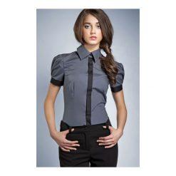 Koszula Black & White k33 szara. Białe koszule damskie marki NIFE, eleganckie. Za 73,00 zł.