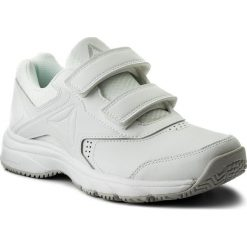 Buty Reebok - Work N Cushion 3.0 Kc BS9531 White/Steel. Szare buty do fitnessu damskie marki Reebok, l, z dzianiny, z okrągłym kołnierzem. Za 229,00 zł.