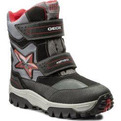 Buty zimowe chłopięce: Śniegowce GEOX – J Lt Himalaya B Abx A J74E5A 0FUCE C0048 D Black/Red