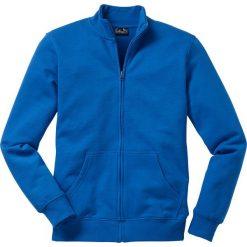 Bluza rozpinana bonprix lazurowy. Niebieskie bejsbolówki męskie bonprix, l, z dresówki. Za 79,99 zł.