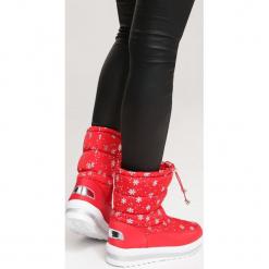 Czerwone Śniegowce Unpublished. Czerwone buty zimowe damskie marki vices, za kostkę. Za 99,99 zł.