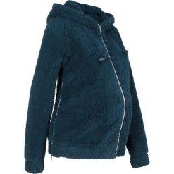 Bluza ciążowa z polaru baranka bonprix ciemnoniebieski. Niebieskie bluzy ciążowe marki bonprix, z materiału, z dekoltem w serek. Za 109,99 zł.