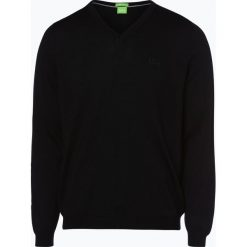 Swetry klasyczne męskie: BOSS Athleisure – Sweter męski – C-Callum_03, czarny