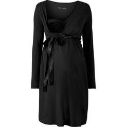 Sukienka ciążowa i do karmienia bonprix czarny. Czarne sukienki ciążowe bonprix, z satyny, z dekoltem w serek. Za 109,99 zł.