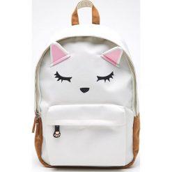 Plecak kot z uszami - Kremowy. Białe plecaki damskie Cropp. W wyprzedaży za 39,99 zł.