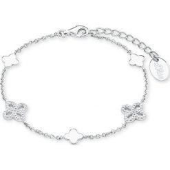 Bransoletki damskie na nogę: Srebrna bransoletka z cyrkoniami