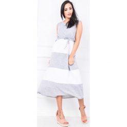Odzież damska: Sukienka maxi w pasy