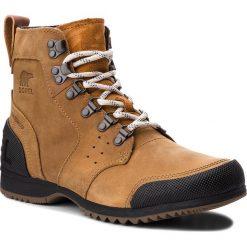 Trekkingi SOREL - Ankeny Mid Hiker NM2100 Elk/Black 286. Brązowe buty zimowe damskie Sorel, z gumy. Za 569,99 zł.