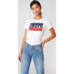 Levi's T-shirt The Perfect Sportswear - White. Białe t-shirty damskie marki Levi's®, s, z nadrukiem, z bawełny, z okrągłym kołnierzem. Za 80,95 zł.