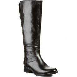 Kozaki CARINII - B1824 Cat. Nero/Sam. 04. Czarne buty zimowe damskie Carinii, z materiału, przed kolano, na wysokim obcasie, na obcasie. W wyprzedaży za 229,00 zł.
