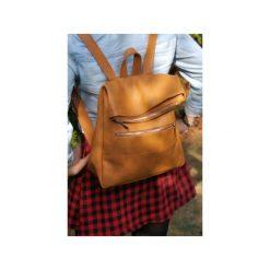 Plecak skórzany DONALD z metalowym zamkiem. Brązowe plecaki damskie Pracownia6-9, ze skóry. Za 234,00 zł.